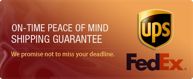 On-Time Peace Of Mind Shipping Guarantee